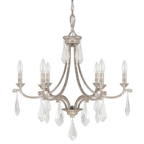 Capital Lighting Fixture Company Harlow Silver Quartz Six-Light Chandelier