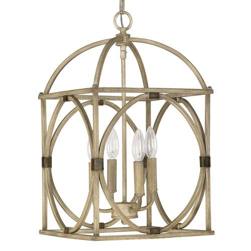 Capital Lighting Fixture Company French Oak Four-Light Foyer Pendant