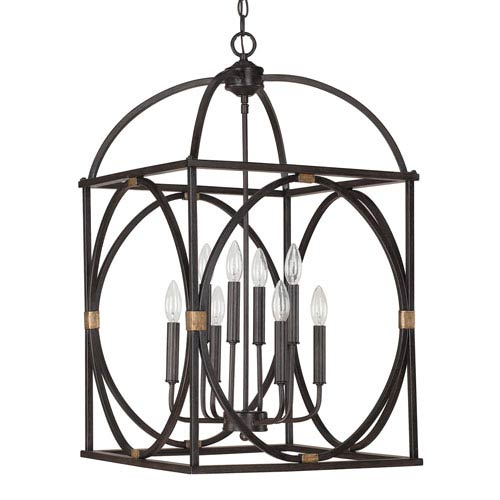 Capital Lighting Fixture Company Surrey 18-Inch Wide Eight-Light Foyer Pendant