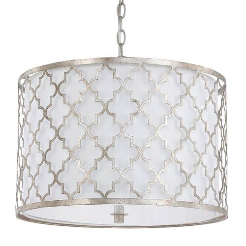 Ellis Antique Silver Three-Light Pendant