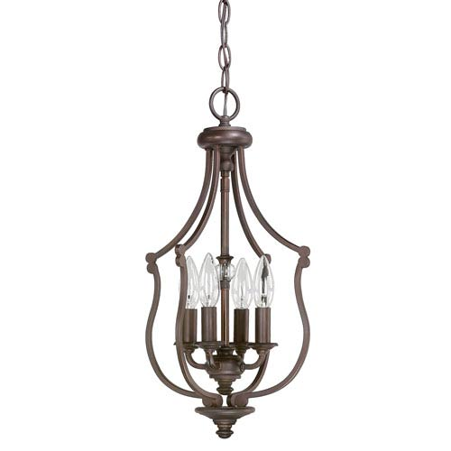Capital Lighting Fixture Company Leigh Burnished Bronze Four-Light Ten-Inch Pendant