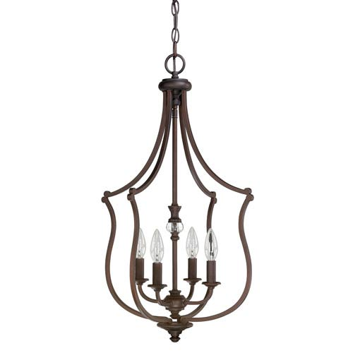 Leigh Burnished Bronze Four-Light Sixteen-Inch Pendant