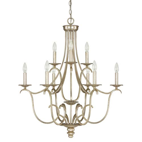 Bailey Winter Gold Nine-Light Chandelier
