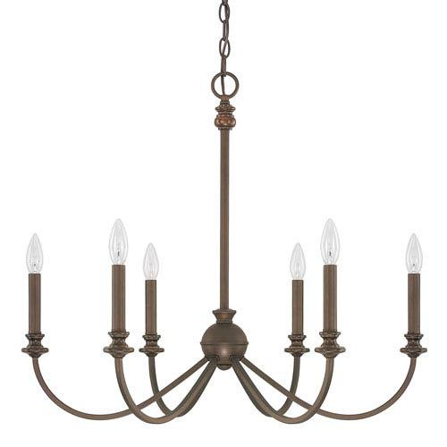 Capital Lighting Fixture Company Alexander Burnished Bronze Six-Light Chandelier