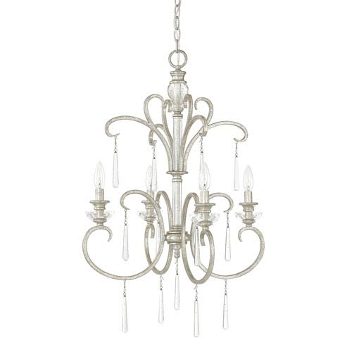 Capital Lighting Fixture Company Celine Antique Silver Four-Light Foyer Fixture