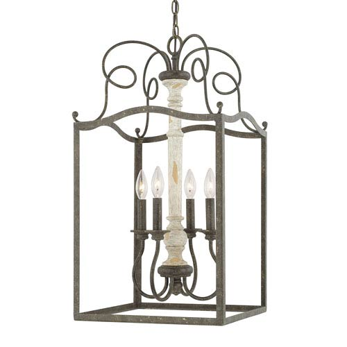 Vineyard French Country Four-Light 15-Inch Wide Foyer