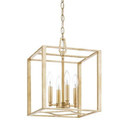 Regan Capital Gold 16-Inch Four-Light Pendant