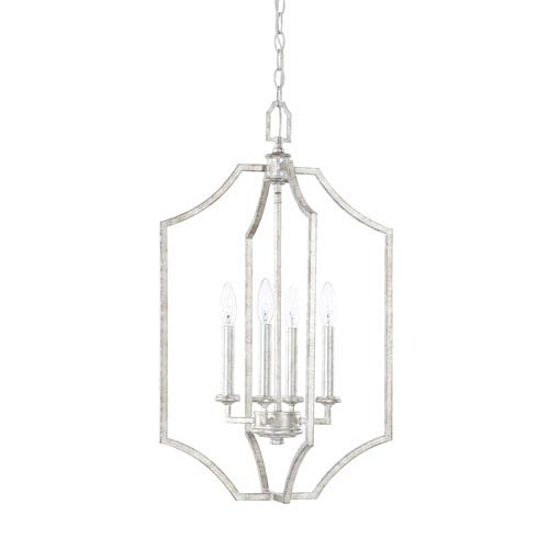 Oxford Silver Patina Four-Light Pendant