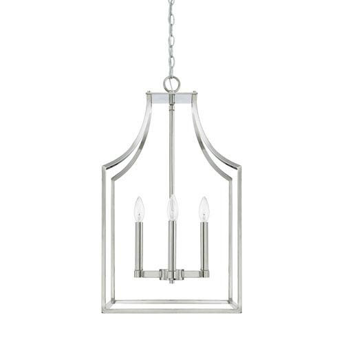 Wright Polished Nickel 27-Inch Four-Light Pendant