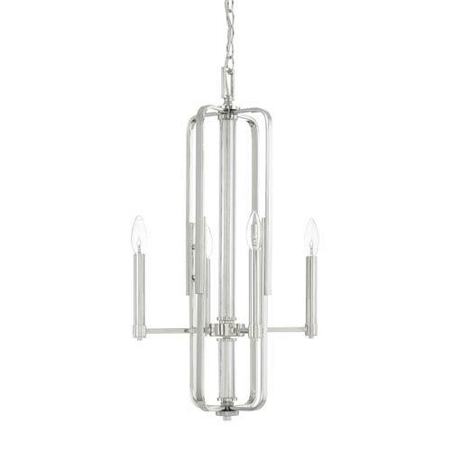 Capital Lighting Fixture Company Manhattan Polished Nickel Four-Light Chandelier