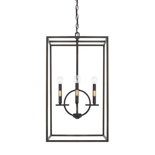 Capital Lighting Fixture Company Cole Aged Brass and Old Bronze16-Inch Four-Light Pendant