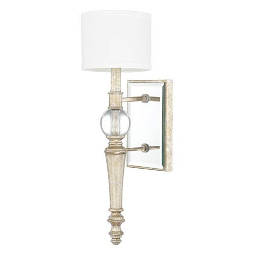 Carlyle Gilded Silver One-Light Wall Sconce