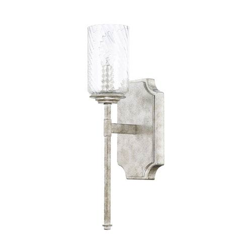 Oxford Silver Patina One-Light Sconce