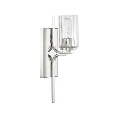 Manhattan Polished Nickel One-Light Sconce