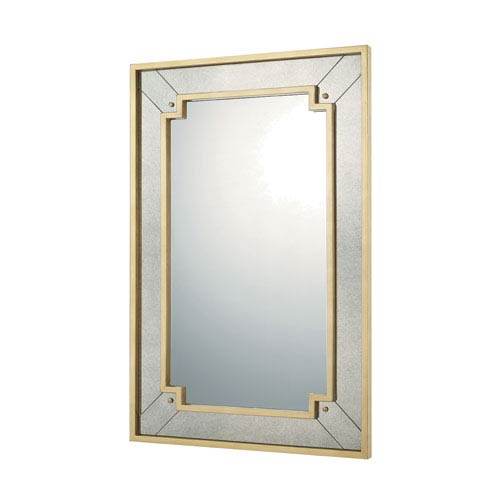 Mirrors Gold Leaf 29-Inch Rectangular Mirror