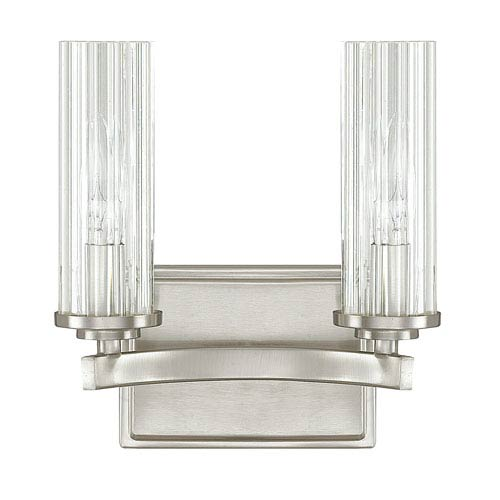 Capital Lighting Fixture Company Emery Brushed Nickel Two-Light Vanity