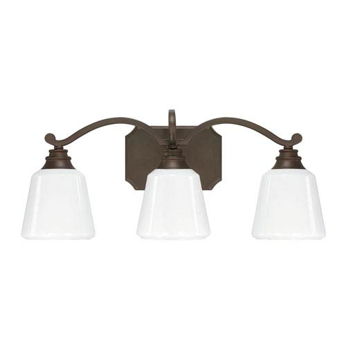 Capital Lighting Fixture Company Leigh Burnished Bronze Three-Light Vanity