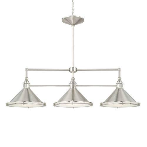 Capital Lighting Fixture Company Langley Brushed Nickel Three Light Pendant