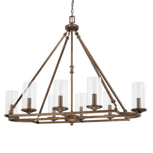Avanti Rustic Eight-Light Chandelier