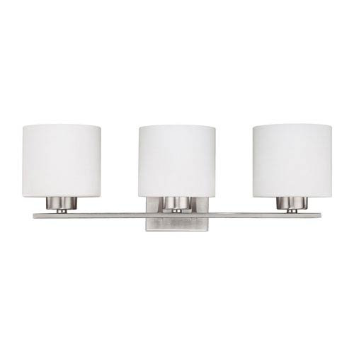 Steele Brushed Nickel Three-Light Vanity