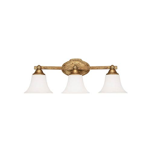 Capital Lighting Fixture Company Blakely Antique Gold Three Light Vanity Fixture