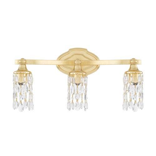 Blakely Capital Gold 21-Inch Three-Light Bath Vanity