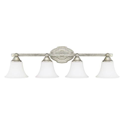 Capital Lighting Fixture Company Blakely Antique Silver Four-Light Vanity