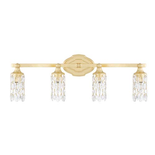 Blakely Capital Gold Four-Light Bath Vanity