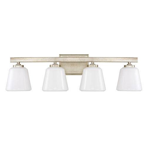 Capital Lighting Fixture Company Berkeley Winter Gold Four-Light Vanity
