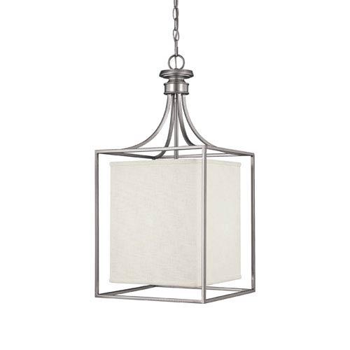 Midtown Matte Nickel Two-Light Lantern Pendant