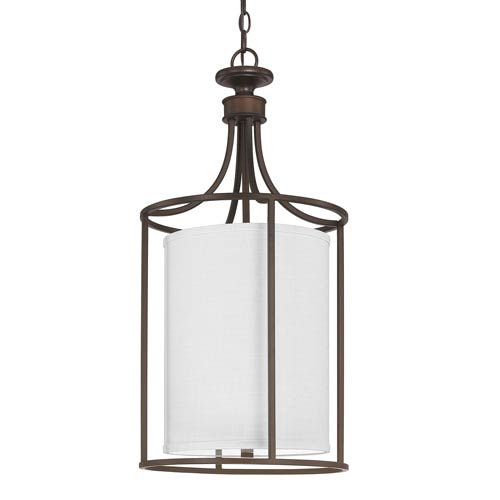 Capital Lighting Fixture Company Midtown Burnished Bronze Two-Light Cylindrical Fourteen-Inch Pendant