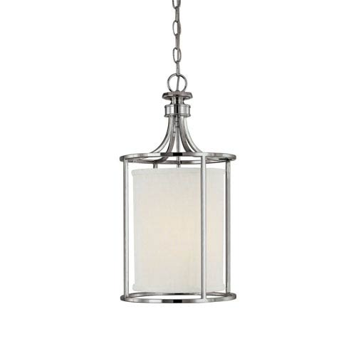 Capital Lighting Fixture Company Midtown Polished Nickel Two-Light Lantern Pendant