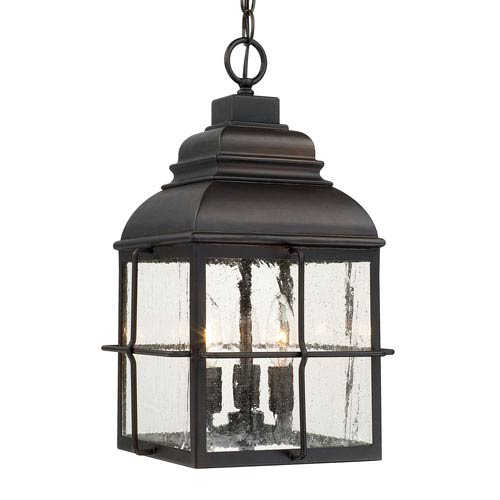 Lanier Old Bronze Three-Light Hanging Lantern