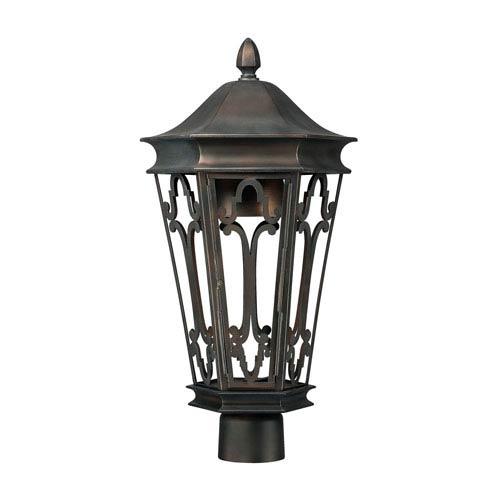 Townsende Old Bronze Outdoor Dark Sky Post Lantern