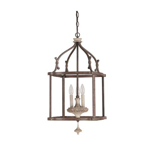 Capital Lighting Fixture Company Chateau Large French Oak Three Light Foyer