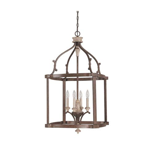 Capital Lighting Fixture Company Chateau French Oak Four Light Foyer