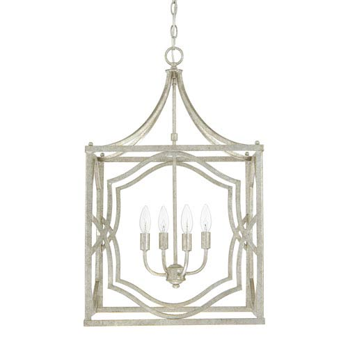Blakely Antique Silver Four-Light Foyer Fixture