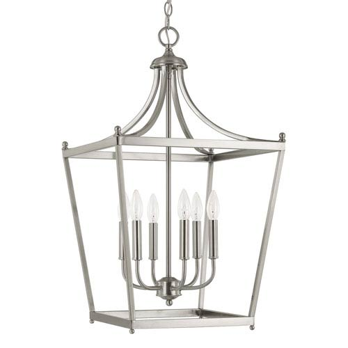 Stanton Brushed Nickel Six Light Foyer Pendant