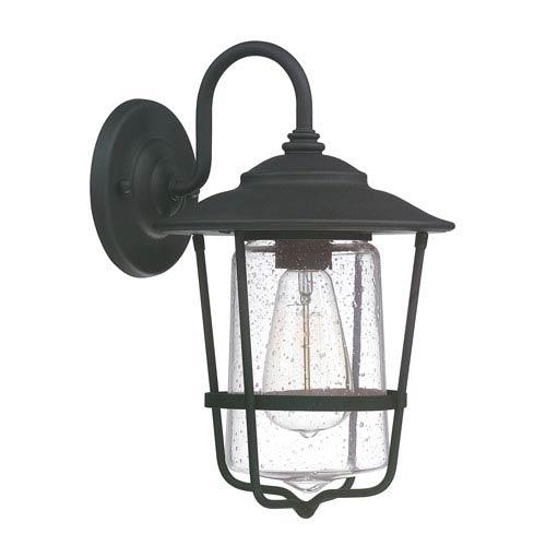 Creekside Black One-Light Eight-Inch Wall Lantern