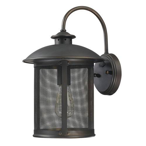 Capital Lighting Fixture Company Dylan Old Bronze One-Light Outdoor Metal Wall Lantern