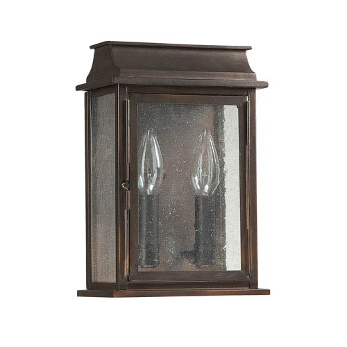 Capital Lighting Fixture Company Seven Inch Wide Old Bronze Bolton Two Light Wall Lantern