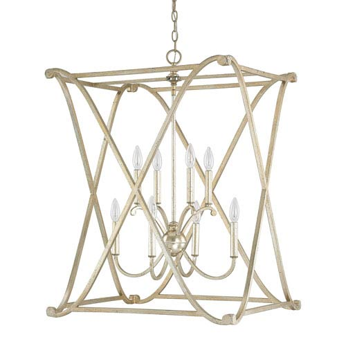 Capital Lighting Fixture Company Alexander Winter Gold Eight-Light Foyer Fixture