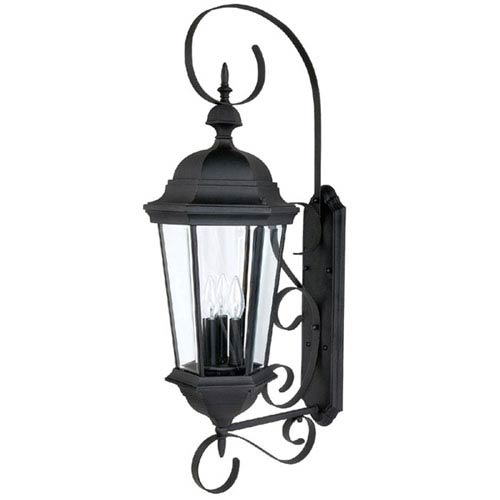 Carriage House Large Black Outdoor Wall Mount