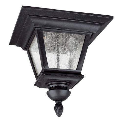 Brookwood Black Outdoor Flush Mount Ceiling Light