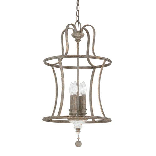 Zoe French Antique Four-Light 15-Inch Chandelier