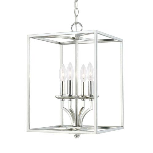 Jaxon Polished Nickel Four-Light 12-Inch Chandelier