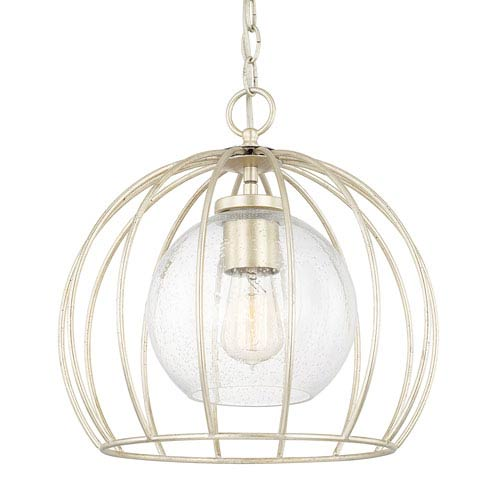 Winter Gold One-Light 14-Inch Pendant