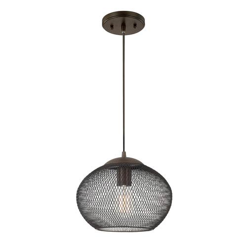 Burnished Bronze One-Light 10.5-Inch Pendant