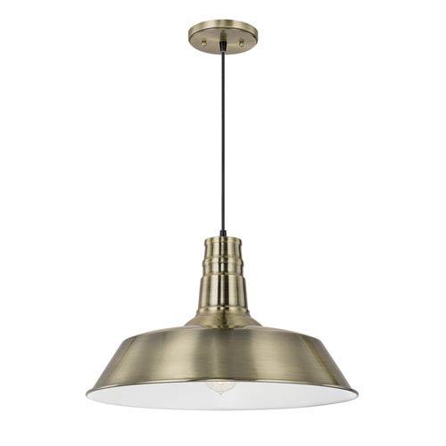 Brass One-Light 18-Inch Pendant