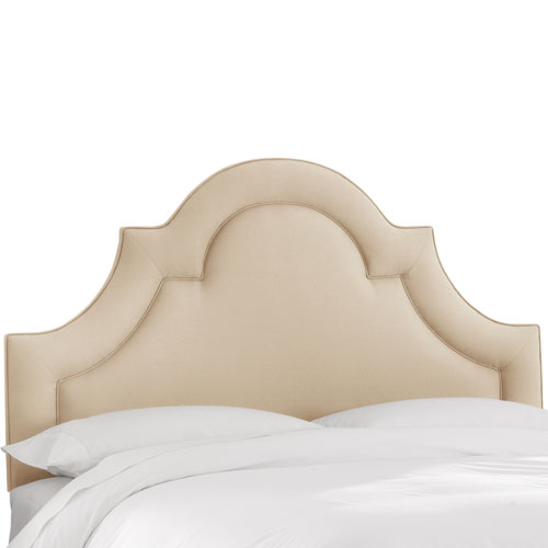 Queen Twill Natural Arched Border Headboard